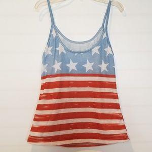 Ladies star & stripes tank top